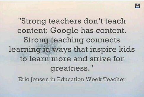 Strong teachers...